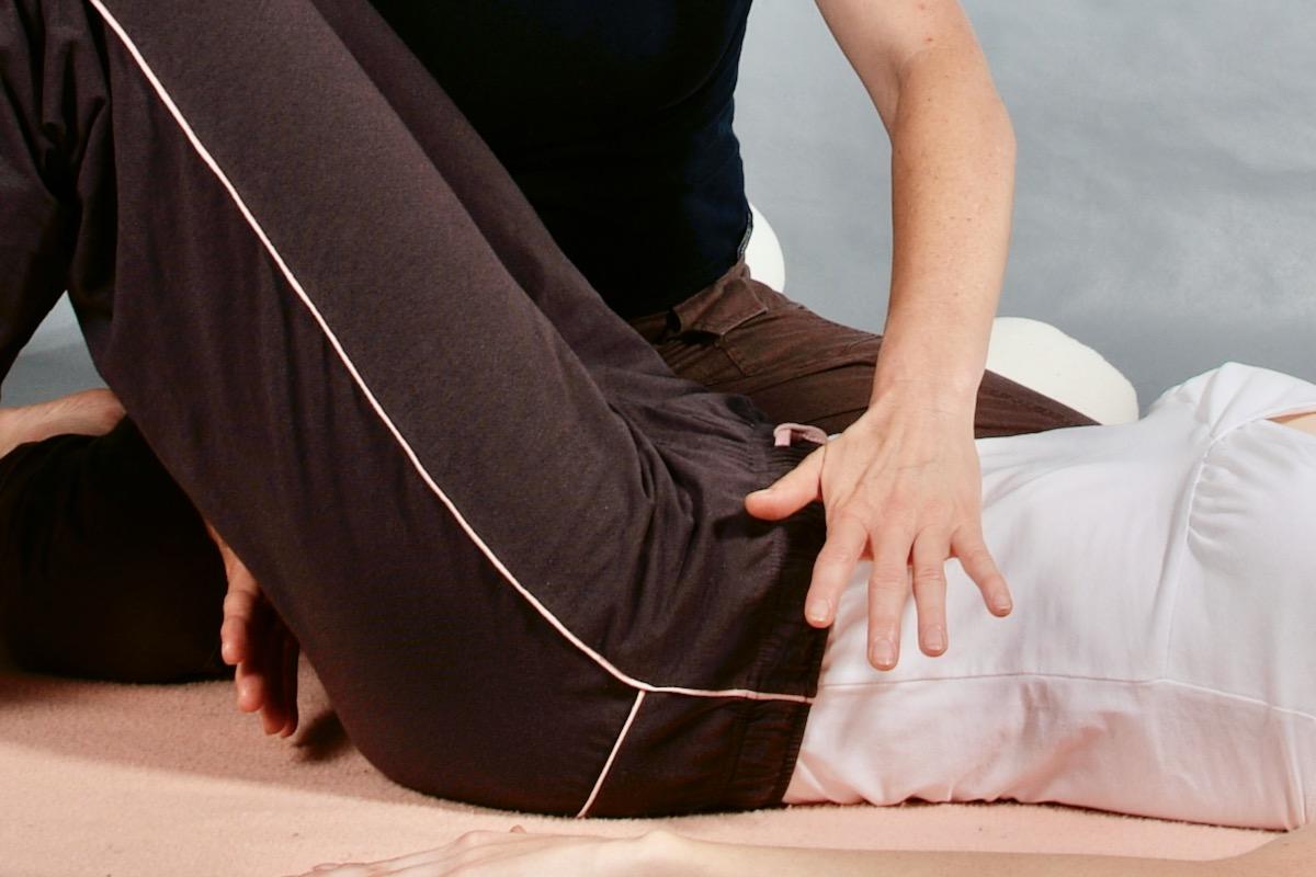 Anleitung in der Beckenboden–Einzeltherapie